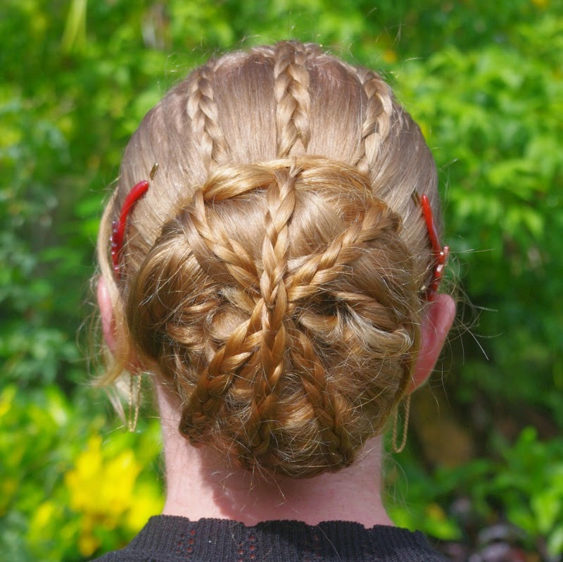 Braids & Hairstyles For Super Long Hair: Criss Cross Bun With Criss Cross Braid Bun Hairstyles (View 17 of 25)