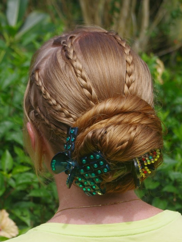 Braids & Hairstyles For Super Long Hair: Tiny Braids With Most Recent Cinnamon Bun Braided Hairstyles (View 23 of 25)