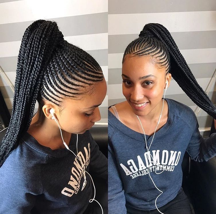 Braidss | Braided | Braids For Black Hair, Braided Ponytail Inside Braided Ponytails Updo Hairstyles (View 9 of 25)