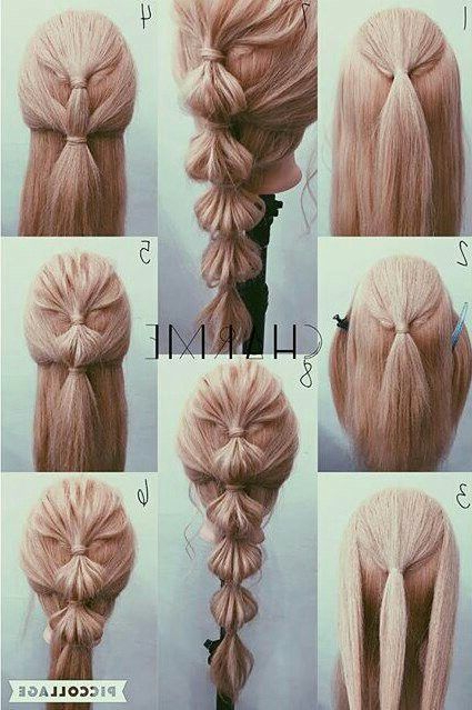 Bubble Braid | Bb Hair Extension Inspiration In 2019 | Hair Pertaining To Bubble Braid Updo Hairstyles (View 9 of 25)