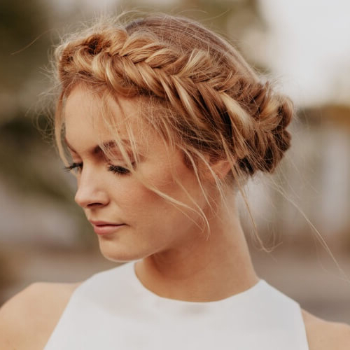 Channel Your Inner Fairy With These 50 Crown Braid Styles pertaining to Most Recently Fishtail Crown Braided Hairstyles
