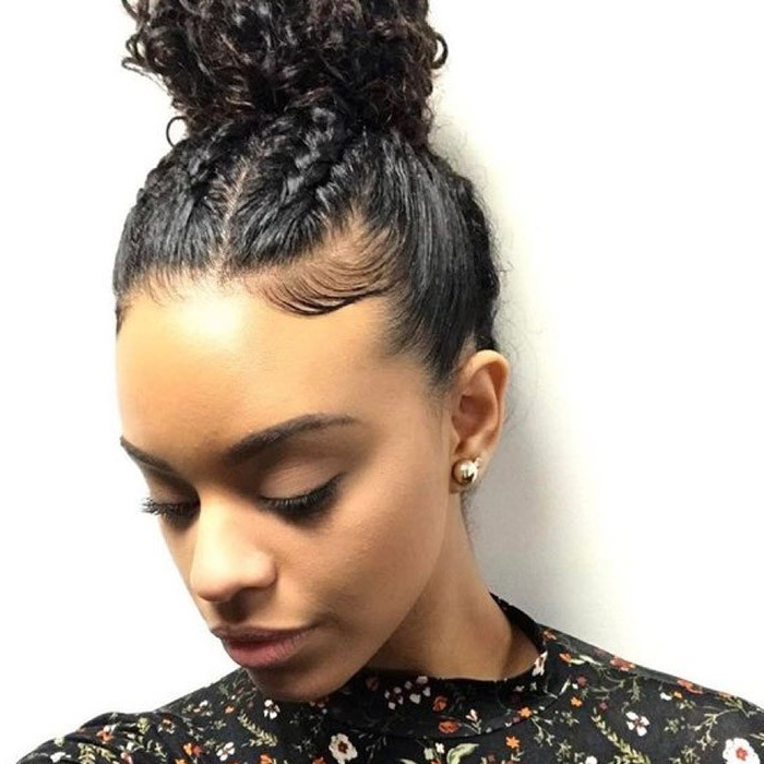 Check Out Our 24 Easy-To-Do Updos, Perfect For Any Occasion for High Bun Hairstyles With Braid