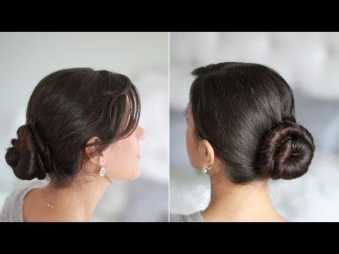 Cinnamon Bun Hairstyle Is Great For Work, School Or An pertaining to Most Recent Cinnamon Bun Braided Hairstyles