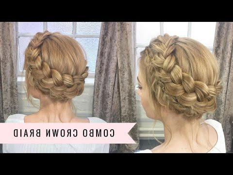 Combination Crown Braidsweethearts Hair - Youtube inside Crown Braid Updo Hairstyles