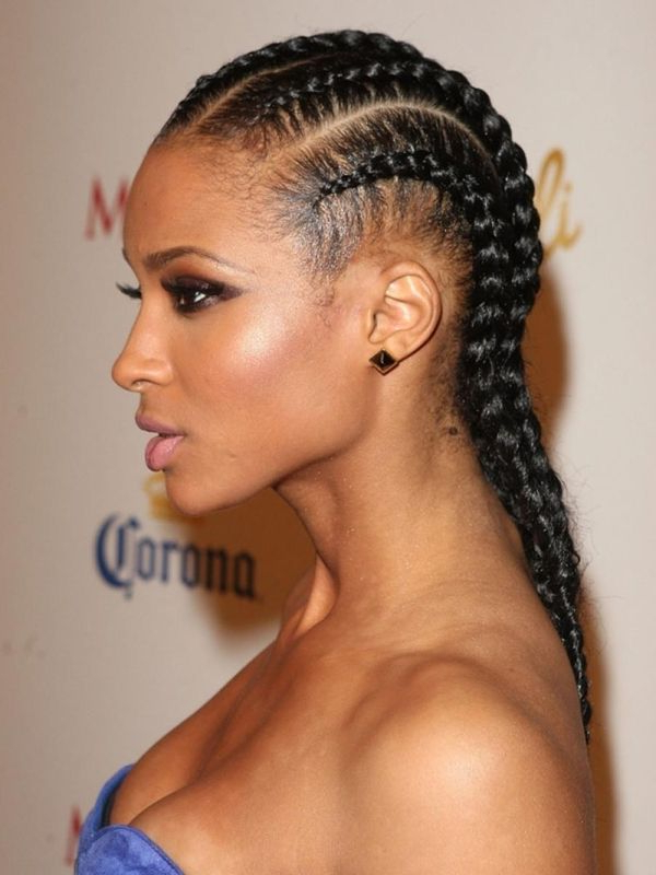 Cornrow Hairstyles: Different Cornrow Braid Styles (Trending Inside Most Up To Date Side Cornrows Braided Hairstyles (View 22 of 25)