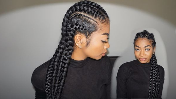 Cornrow Hairstyles: Different Cornrow Braid Styles (Trending with Newest Thick Cornrows Braided Hairstyles