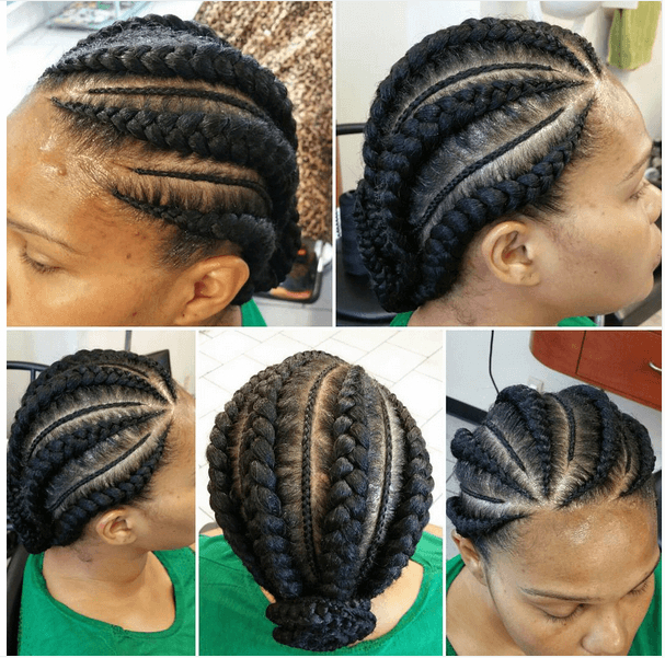 Cornrow Hairstyles: Different Cornrow Braid Styles (Trending within Best and Newest Thick Cornrows Braided Hairstyles