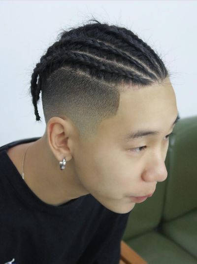 Cornrows Und Taper Haarschnitt | The Cut In 2019 | Braided With Regard To Most Up To Date Tapered Tail Braided Hairstyles (View 2 of 25)