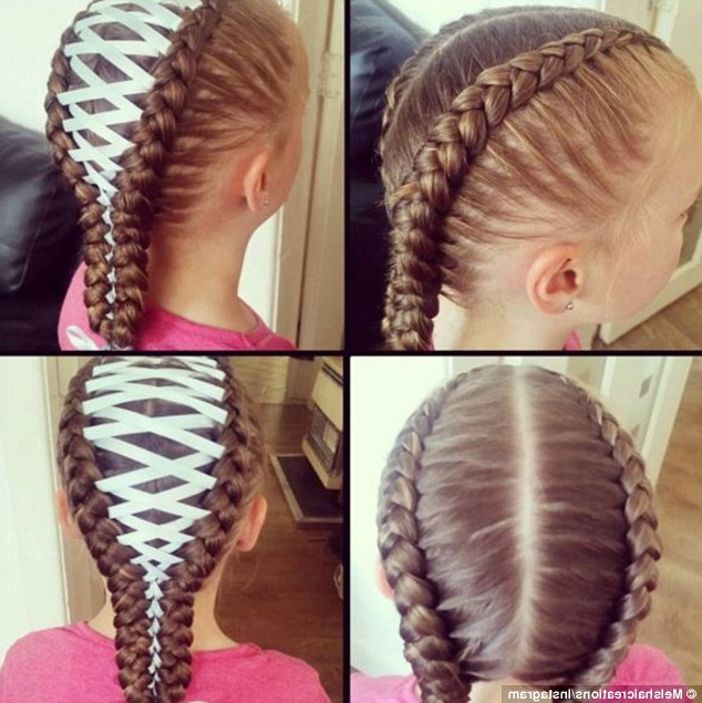 Corset Braids Are The Latest Hair Trend Taking Off On Pertaining To Most Recently Corset Braided Hairstyles (View 17 of 25)