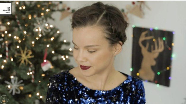 Create The Perfect Halo Braid In Under 15 Minutes | All Regarding Recent Halo Braided Hairstyles With Long Tendrils (View 18 of 25)
