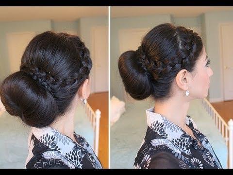 Criss-Cross Braided Bun with Criss-Cross Braid Bun Hairstyles