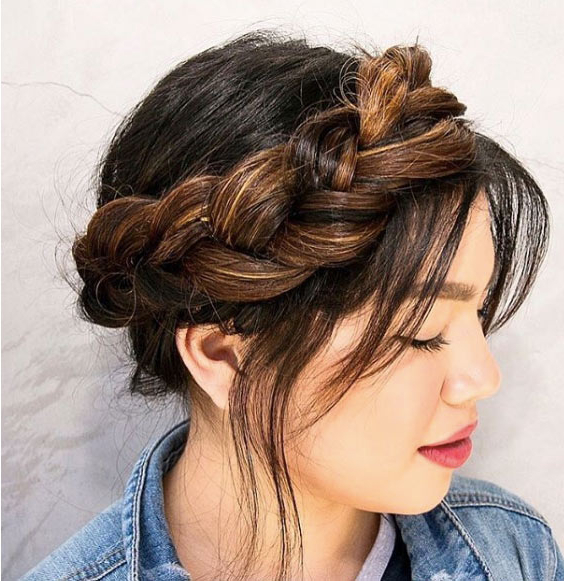 Crown Braid Black Hair Designs For Your Mesmerizing Insta Pics! Pertaining To Recent Messy Crown Braided Hairstyles (View 23 of 25)