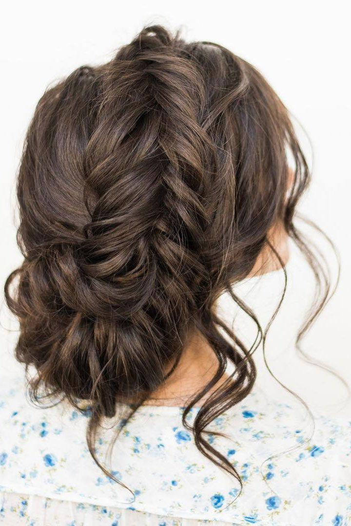Crown Braid With Messy Updo Wedding Hairstyle Idea #2736323 with Crown Braid Updo Hairstyles