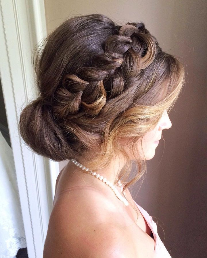 Crown Braided Updo Wedding Hairstyles To Inspire Your Big Intended For Crown Braid Updo Hairstyles (View 11 of 25)