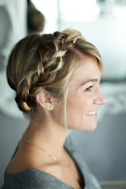 Crowning Glory: An Ornate-Looking Style That's Actually As throughout Newest Crowned Braid Crown Hairstyles