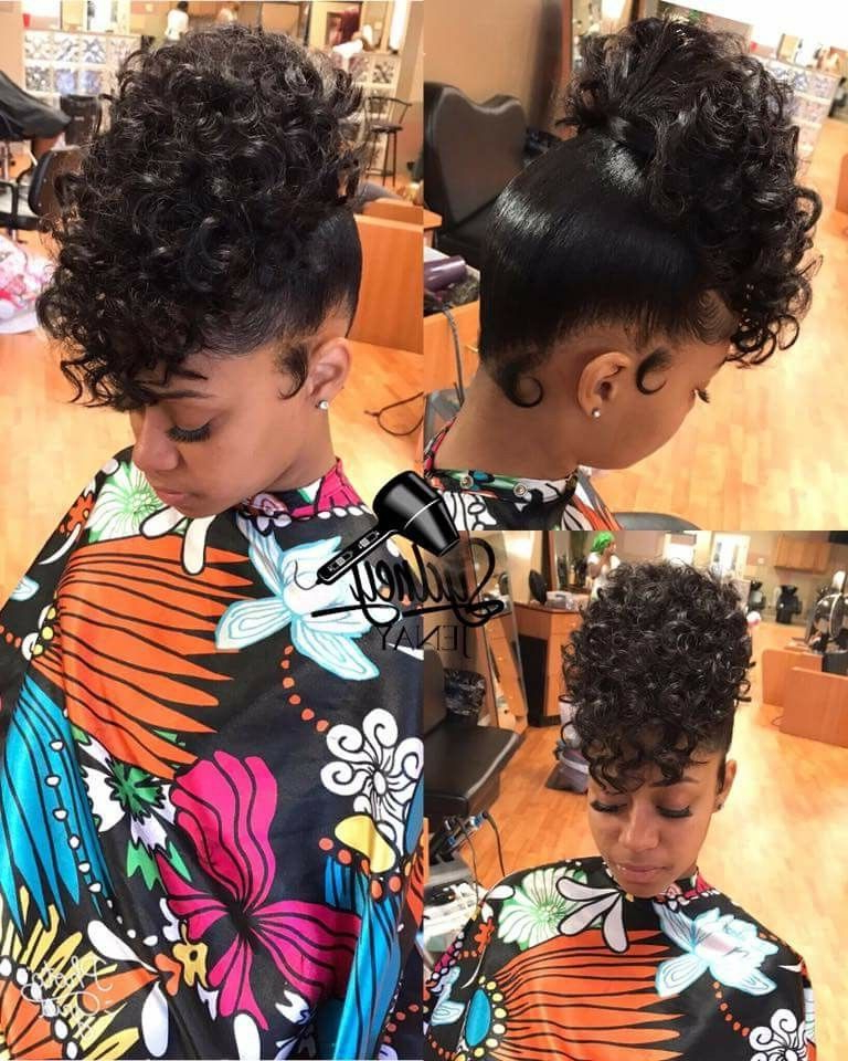Curly High Ponytail | Hair Styles | Curly Hair Styles, Hair Within Natural High Ponytail Updo Hairstyles (View 2 of 25)
