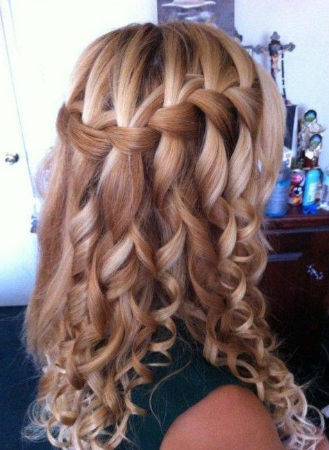 Curly Waterfall Braid Hairstyle 2013 | Hair <3 | Hair Styles within Most Popular Loose Spiral Braided Hairstyles