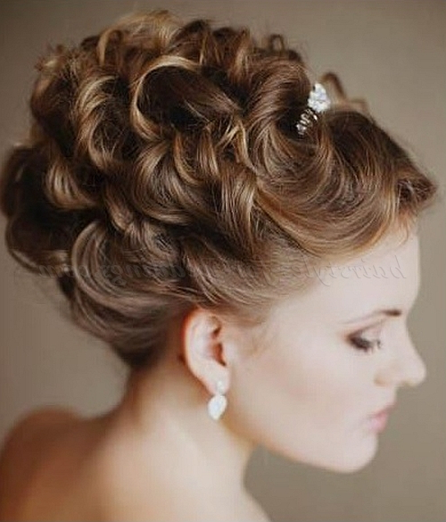 Curly Wedding Updos – Curly Wedding Updo | Hairstyles For In Curled Updo Hairstyles (View 22 of 25)