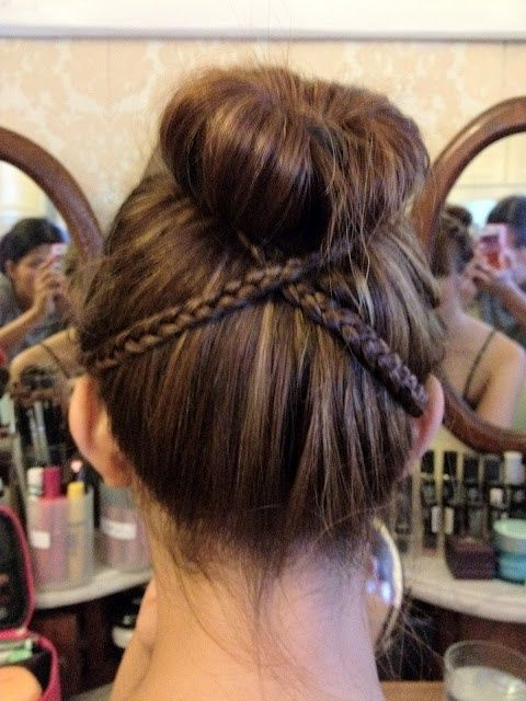 Cute Bun With Criss Cross Braid | Kenra Professional Intended For Criss Cross Braid Bun Hairstyles (View 2 of 25)