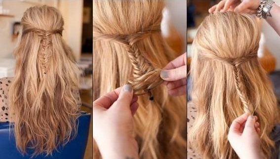 Cute Diy Hairstyles For School: Bouffant Hairstyle – Popular Throughout Best And Newest Braids And Bouffant Hairstyles (View 8 of 25)