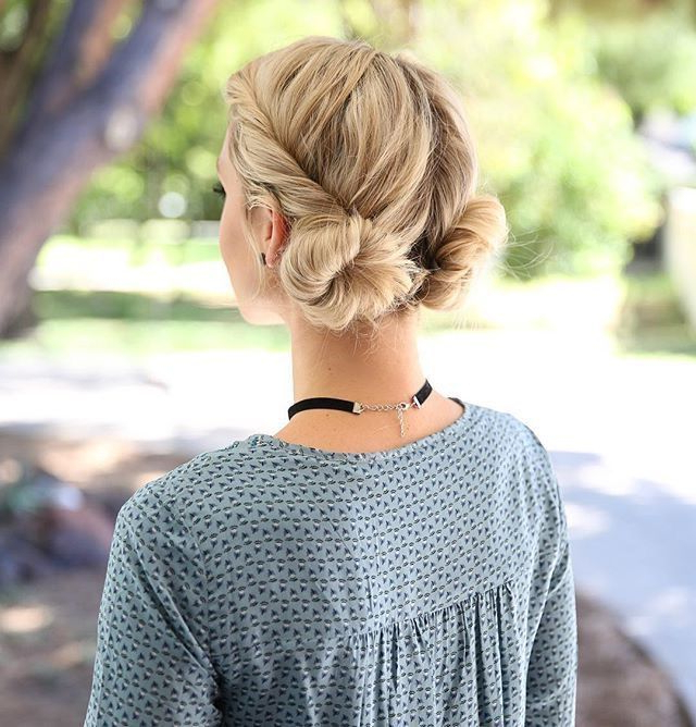 Cute Low Double Buns~! | {Everyday Glam} In 2019 | Hair Pertaining To Stacked Mini Buns Hairstyles (View 25 of 25)