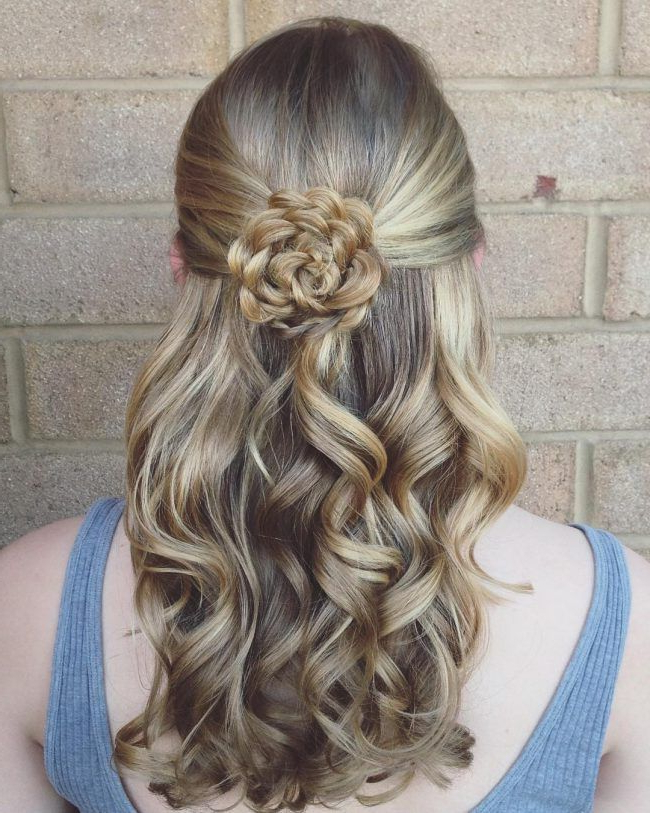 Featured Photo of Floral Bun Updo Hairstyles