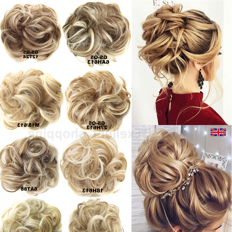 Details About Large Thick Curly Chignon Messy Curly Bun Updo Clip In Hair Piece Extensions Lk4 Regarding High Volume Donut Bun Updo Hairstyles (View 18 of 25)