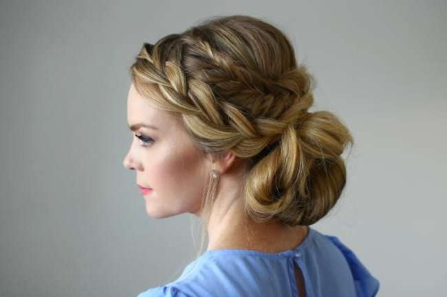 Dieser 'stacked Fishtail French Braid Updo' Ist Eine for Stacked Buns Updo Hairstyles