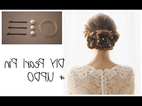 Diy Pearl Pin And Updo – Nonyism For Pearl Bun Updo Hairstyles (View 8 of 25)