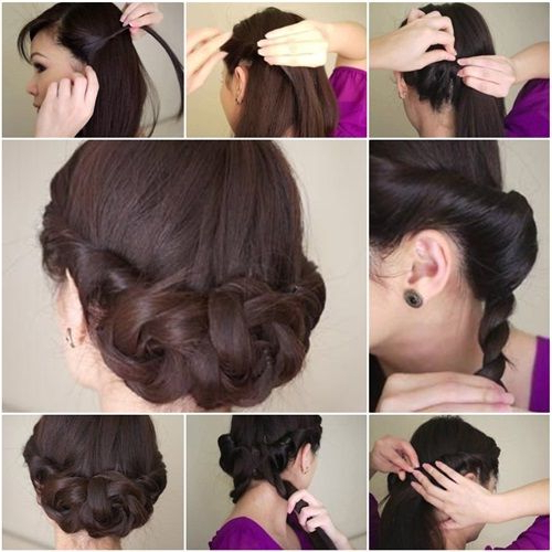 Diy Simple And Awesome Twisted Updo Hairstyle | Hairstyles Pertaining To Simple Pony Updo Hairstyles With A Twist (View 9 of 25)