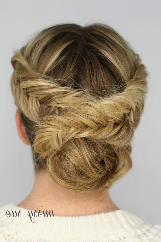 Double Dutch Fishtail Braid Updo | Braids | Dutch Fishtail throughout Fishtail Braid Updo Hairstyles