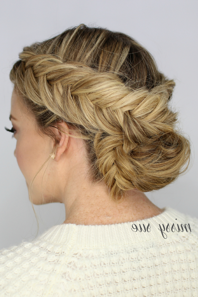 Double Dutch Fishtail Braid Updo With Fishtail Braid Updo Hairstyles (View 18 of 25)
