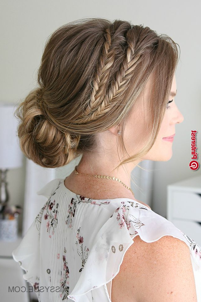 Double Fishtail Braid Updo « New Hairstyle With Fishtail Braid Updo Hairstyles (View 22 of 25)