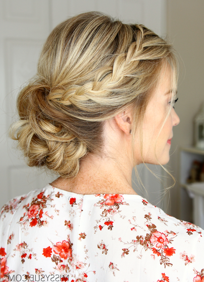 Double Lace Braids Updo | Missy Sue regarding Newest Plaited Low Bun Braided Hairstyles