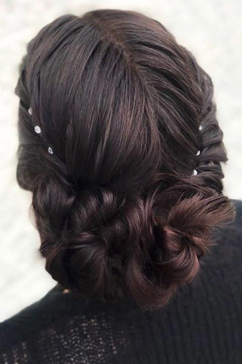 Double Twist Bun Updo #easypromhairstyles | Beautiful Prom Throughout Double Twist Bun Updo Hairstyles (View 9 of 25)