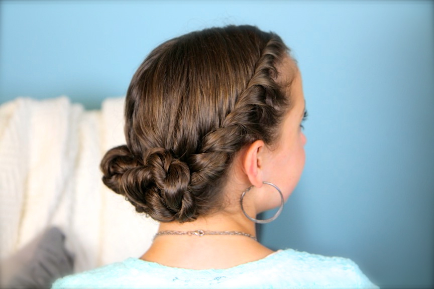 Featured Photo of Double Twist Bun Updo Hairstyles