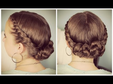 Double Twist Bun Updo – Youtube With Double Twist Bun Updo Hairstyles (View 8 of 25)