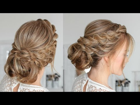Double Twisted Low Bun | Missy Sue – Youtube Pertaining To Double Twist Bun Updo Hairstyles (View 16 of 25)