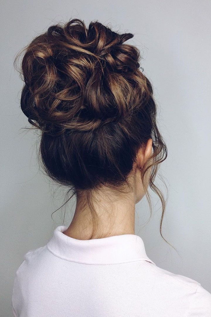 Drop Dead Gorgeous Messy Updo Hairstyle Idea | Formal Intended For High Volume Donut Bun Updo Hairstyles (View 2 of 25)