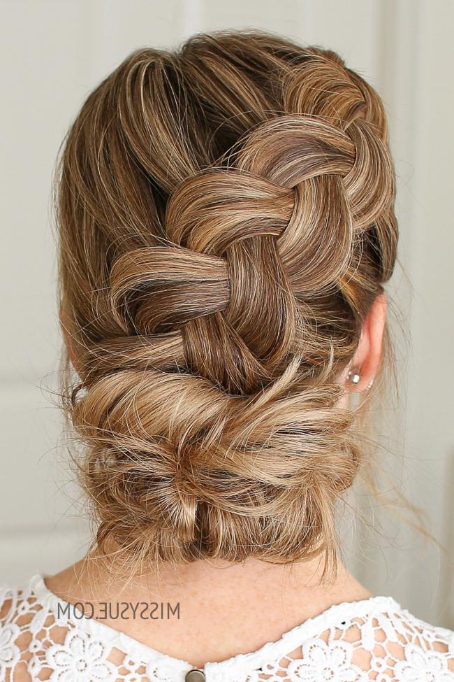 Dutch Braid And Low Bun | Missy Sue regarding Dutch Braid Bun Hairstyles
