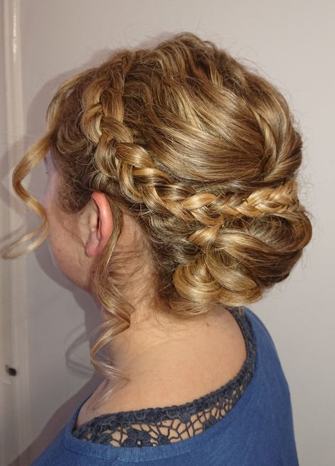 Dutch Braid Hair Up Tendrils | Work | Braided Hairstyles Inside Most Current Halo Braided Hairstyles With Long Tendrils (View 3 of 25)