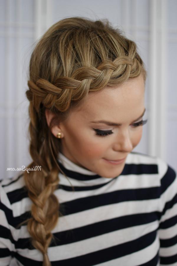 Dutch Braided Headband + Side Braid | Kaidyn Inspired with regard to Most Up-to-Date Side Dutch Braided Hairstyles