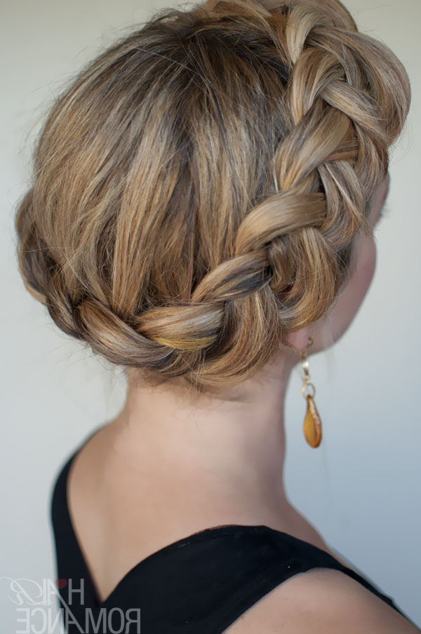 Dutch Crown Braid - Simple Casual Dutch Braid Updo in Dutch Braid Updo Hairstyles