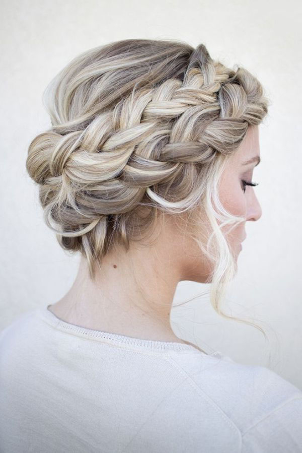 Dutch Crown Braid within Current Messy Crown Braided Hairstyles