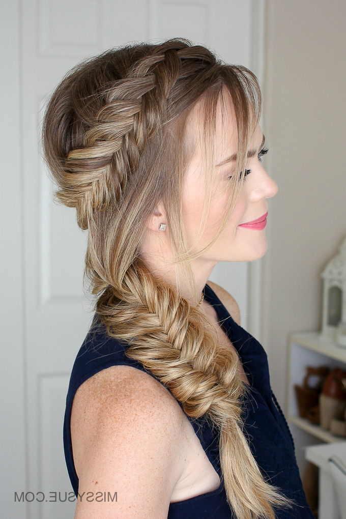 Dutch Fishtail Summer Side Braid | Missy Sue Pertaining To Recent Fishtail Side Braided Hairstyles (View 20 of 25)