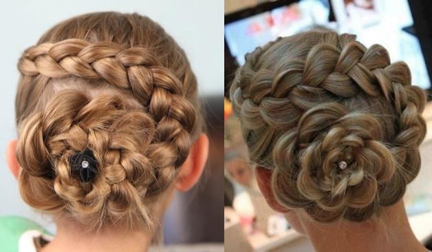 Dutch Flower Braid | Updo Hairstyles | Cute Girls Hairstyles in Dutch Braid Updo Hairstyles