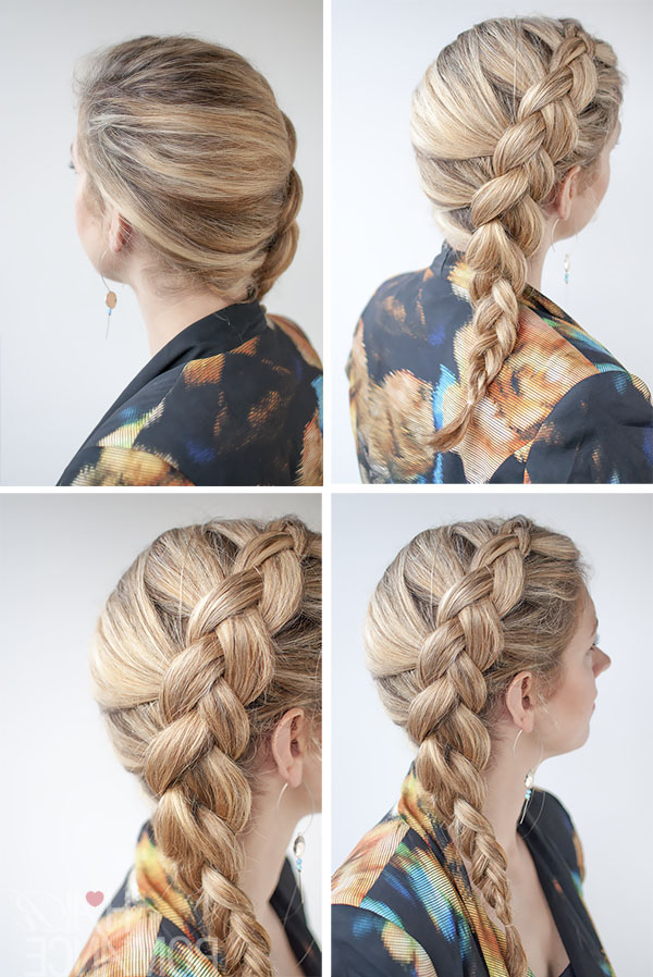 Dutch Side Braid Hairstyle Tutorial – Hair Romance For Best And Newest Side Dutch Braided Hairstyles (View 5 of 25)
