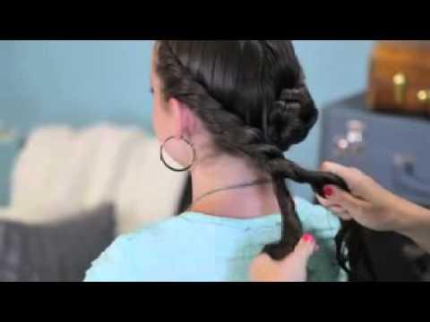 ? Double Twist Bun Updo Within Double Twist Bun Updo Hairstyles (View 11 of 25)