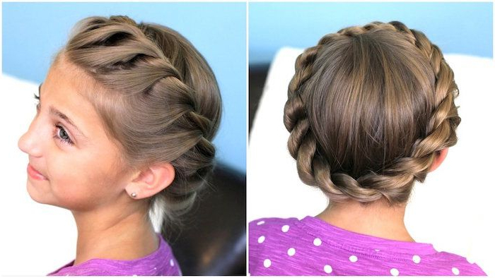 ?1001 + Ideas For Adorable Hairstyles For Little Girls For Latest Angular Crown Braided Hairstyles (View 15 of 25)