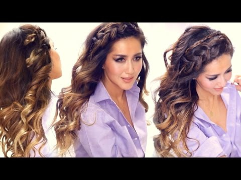 ? 3 Easy Headband Braid Hairstyles & Hsi Curls | Short Pertaining To Newest Headband Braided Hairstyles With Long Waves (View 13 of 25)